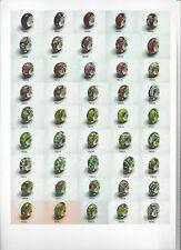 Bandeja de visualización de cuentas y perlas de plata esterlina 108