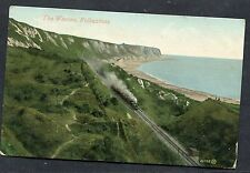 Posted 1909 View of a Steam Train Travelling thru the Warren, Folkestone