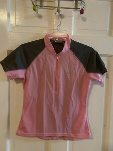Louis Girneau Women's Pink/Black Bike Jersey - Small