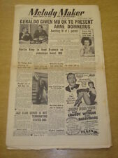 MELODY MAKER 1952 AUGUST 30 GERALDO BERTIE KING BING CROSBY JAZZ CLUB +