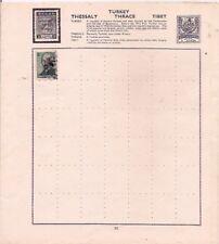 TURKEY stamp on an album page.