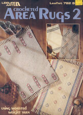 Crocheted Area Rugs 2 Rug Crochet Pattern Leisure Arts 782 Leaflet Booklet