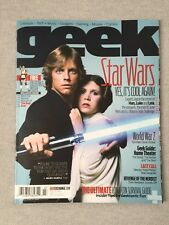 GEEK MAGAZINE VOL. 2 NO. 1 STAR WARS YES, IT'S COOL AGAIN ISSUE