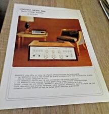 depliant publicitaire technique Marantz Model 1060 stereo console amplifier
