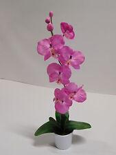 Orchidee Kunstpflanze Dekopflanze Seidenblume H 50 rose 60301-17 getopft F73