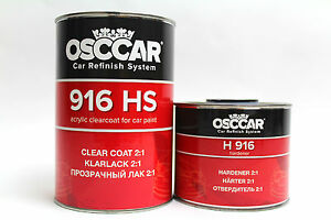 OSCCAR HS 916 2K CLEARCOAT 1.5Lkit CRYSTAL CLEAR ANTI SCRATCH LACQUER+ ST HARDEN