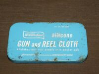 "VINTAGE KITCHEN 6 3/8"" X 3 5/8"" WARD WESTERN FIELD GUN & REEL CLOTH TIN BOX"