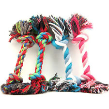 Chew Knot Toy Pets Dog Puppy Cat Cotton Durable Braided Bone Rope Xmas Pet Gift