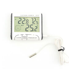 Digital In/Out Weather Thermometer Hygrometer Humidity Meter Tester Freeze Alt