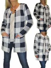 Classic Neckline Checked Formal Coats & Jackets for Women
