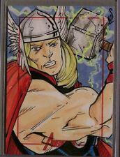 Marvel-Avengers-Jason Sobol-Thor-Comic-SketchaFEX Card-Sketch Card-2010