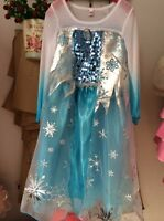 Kid Girl Dress Frozen Elsa Anna Party Costume Princess Dress up Cinderella 3-9 Y