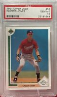 1991 Upper Deck #55 Chipper Jones PSA Gem Mint 10 Atlanta Braves