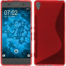 Silicone Case for Sony Xperia XA S-Style red + protective foils