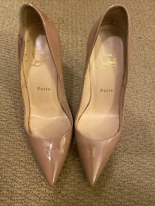 Christian Louboutin So Kate patent Nude Pumps. Size 38 Pre-owned.