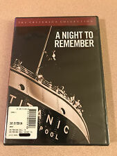 A Night to Remember - The Criterion Collection DVD Sealed New Out Of Print