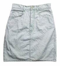 Via Max Every Wear Size 7 Sage Green Cotton Blend 4 Pocket Denim Stitch Skirt