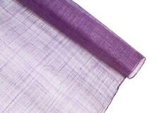 Stiffened Sinamay Millinery Fabric - Purple - 1 Meter x 90cm