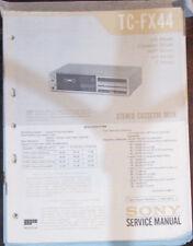 Sony TC-FX44 registratore a cassette Servizio di Riparazione Officina Manuale (copia originale)