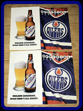 LOT OF 2 1993-94 EDMONTON OILERS HOCKEY POCKET SCHEDULES FREE SHIPPING EX+NM