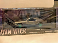 Greenlight RARE CHASE Green Machine 86540 John Wick 1969 BOSS Mustang 1:43 Scale