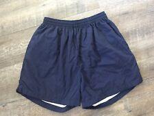 "Wimbledon Shorts Men's Large Navy Elastic Waistband Lined 4.5"" Inseam Vintage"