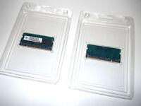 NANYA 2x 256mb (500MB). PC2-5300s-555-12-C2 for Apple Laptop or Mac Mini.