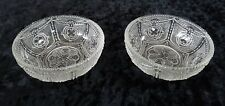 """2 EAPG HEISEY LOCKET AND CHAIN 4"""" NAPPY BERRY? BOWL ANTIQUE GLASS (OTR PCS AVAIL"""