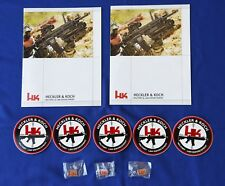 Heckler & Koch Product Catalogs with Stickers and Pins