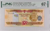 Solomon Islands 100 Dollars ND 2006 P 30 A/2 PREFIX Superb Gem UNC PMG 67 EPQ