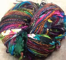 Art yarn Potluck original 150 yds hand tied brights with black great adirondack