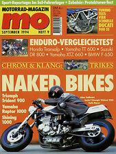 Mo 1994 9/94 f 650 Suzuki DR 800 yamaha xtz660 tt600 sr500 honda transalp rc45