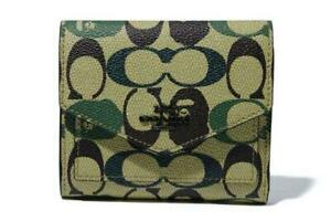 Bape X Coach Small Wallet In Signature Canvas With Ape Head F/S from JAPAN