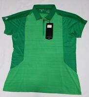 NEW Antigua Women's 1/4 Zip Desert Dry Golf Polo Two-Tone Green Size M Medium