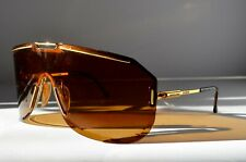 vtg PORSHE CARRERA 5703 41 BOEING COLLECTION SUNGLASSES c 1980 STAINLESS & GOLD