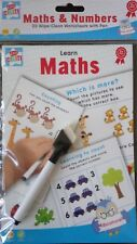 Learn Maths Numbers Pre School Wipe Clean Activity Book Dry Erase Pen 20 Pages