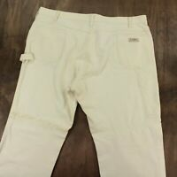 vtg usa LL BEAN canvas carpenter painter pants 42 x 29 (44 x 30 tag) white talon