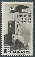 1934 REGNO POSTA AEREA MONDIALI DI CALCIO 10 LIRE MNH ** - E133