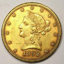 1892-CC Liberty Gold Eagle $10 Carson City Coin - AU Details - Nice Luster!