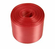 "5 Yards Rolled up 1-1/2"" SINGLE FACE SATIN Ribbon 100% Polyester Choose Color"