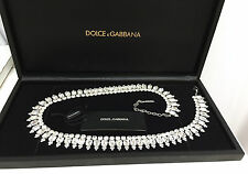 DOLCE & GABBANA CRYSTAL BELT NWT NEW IN BOX CAN BE A NECKLACE WEDDING BELT 38