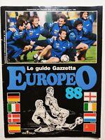 GUIDA EUROPEO 88 GAZZETTA DELLO SPORT EURO 88 HOLLAND GERMANIA OVEST 1988