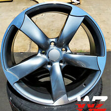 20 inch 5 Arm Rotor Style Wheels 5X112 Rims fits Audi A4 A5 A6 S3 S4 S5 S6 +35