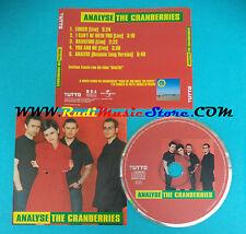 CD Singolo The Cranberries Analyse Tutto 11 ITALY PROMO RARO!! no lp vhs*mc(S22)