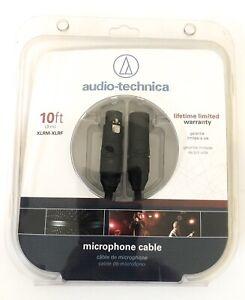Audio-technica 10 Foot XLRM-XLRF Premium Microphone Cable NIB