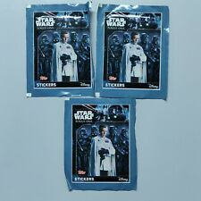 Lot De 3 Paquet Booster Stickers Carte Star Wars Rogue One Disney Collector B12