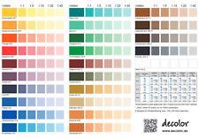 decolor Volltonfarbe 250 ml Abtönfarbe in 25 Farben An-Mischfarbe innen & aussen