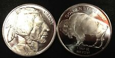 (2) Buffalo Indian Pure Silver Bullion 1 Ounce Rounds Coins   FREE SHIPPING