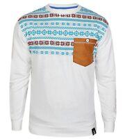 Soul Star New Men's Retro Aztec Casual Crew Neck Top Sweatshirt Jumper S M L XL