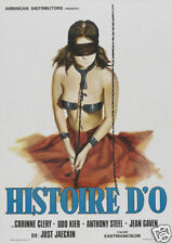 Histoire d'O Corinne Clery vintage movie poster print